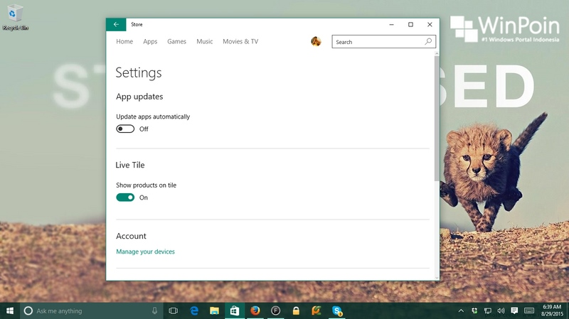 Kamu Sekarang Bisa Mematikan App Update Otomatis di Windows 10 Home