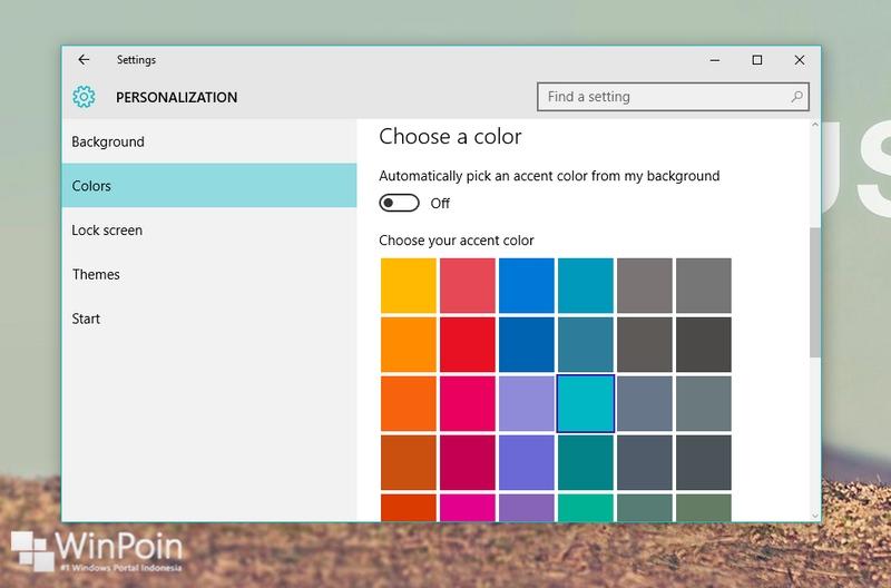 Cara Mengubah Warna Title Bar di Windows 10 (Build 10525) #Tips 19