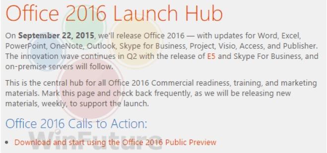 Ssst...Office 2016 Bakal Dirilis 22 September 2015 Besok!