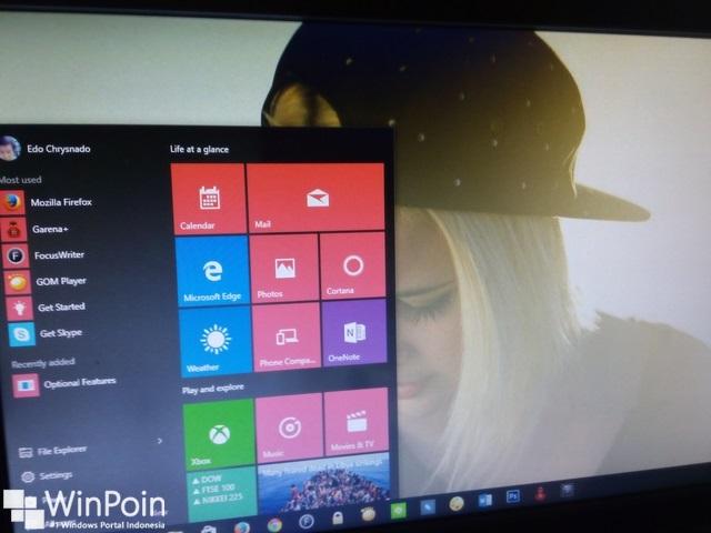 Cara Mengaktifkan Efek Blur Background di Start Menu Windows 10