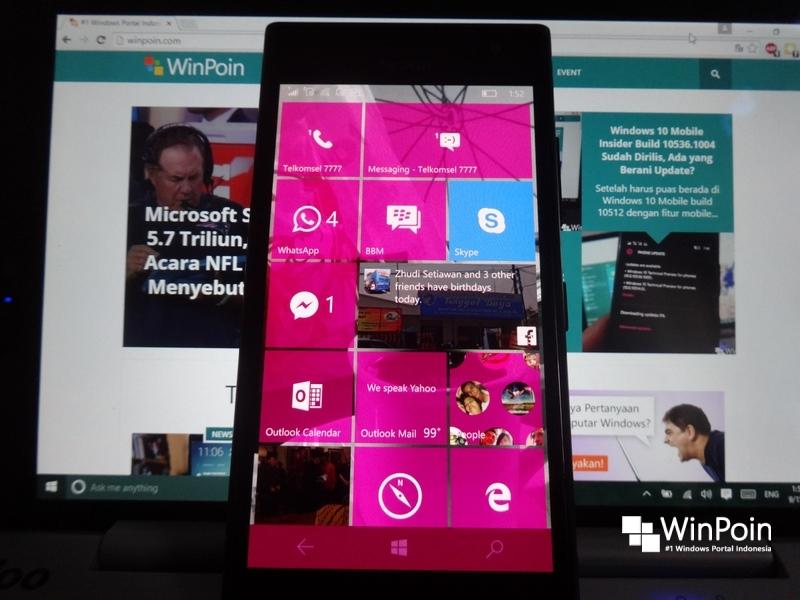 Inilah yang Kamu Dapatkan dari Windows 10 Mobile build 10536