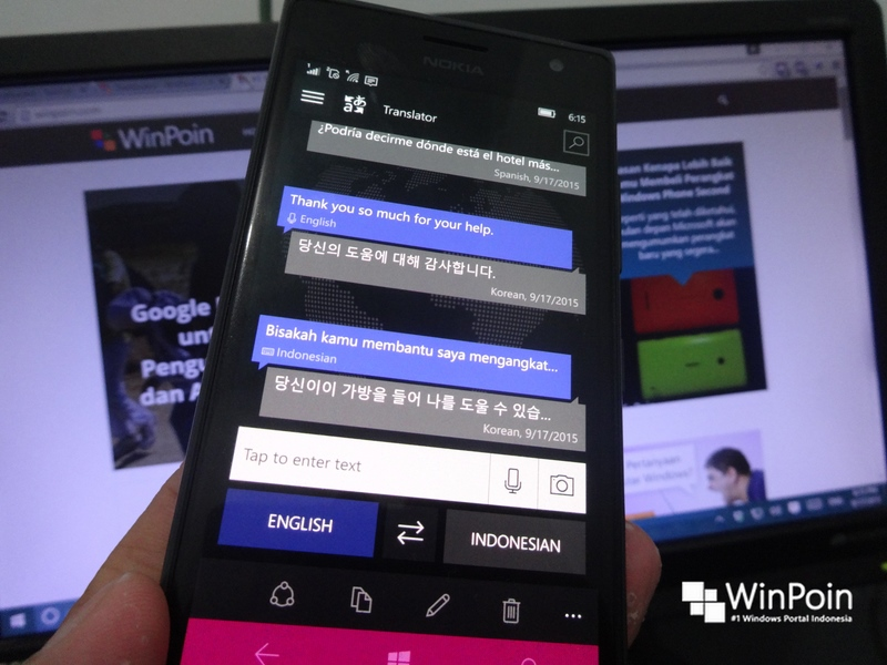 Inilah Aplikasi Translator Realtime Keren untuk Windows 10 dan Windows 10 Mobile: Translator 10 Beta (+Review)
