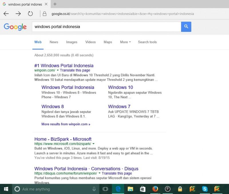 Cara Menjadikan Google Sebagai Search Engine Default di Microsoft Edge