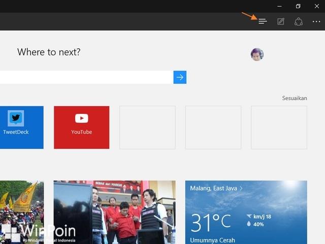Cara Melihat atau Menghapus History Browser Microsoft Edge