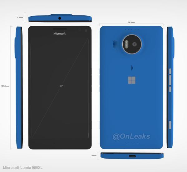 Ada Rendering Baru dari Lumia 950 XL, Terlihat Lebih Jelas 360 Dejarat