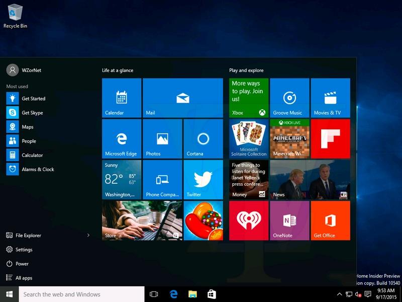 Ini Dia Screenshot Windows 10 build 10540, Hanya Ada Sedikit Perubahan