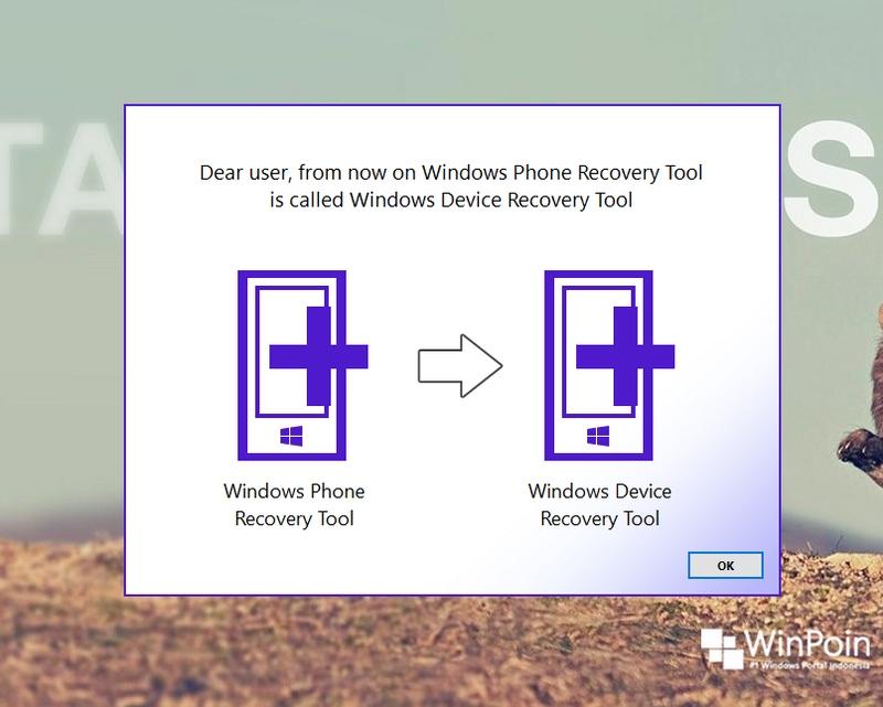 Windows Phone Recovery Tool Diganti Menjadi Windows Device