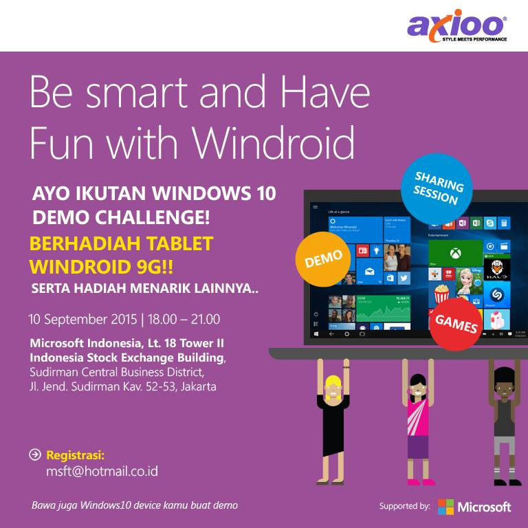 "Ikuti Event ""Be Smart and Have Fun with Windroid"" dan Menangkan Tablet Windroid 9G"