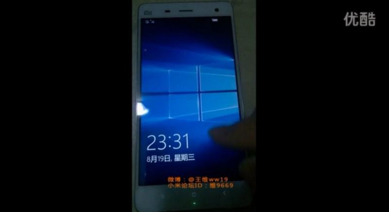 Windows 10 Mobile Sangat Mulus Dijalankan di Xiaomi Mi 4 (Video Leaked)