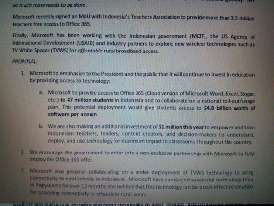 Rabu, 28 Oktober 2015 besok rencananya Presiden Jokowi bakal bertemu dengan CEO Microsoft Satya Nadella untuk penandatanganan kerja sama di bidang pendidikan.