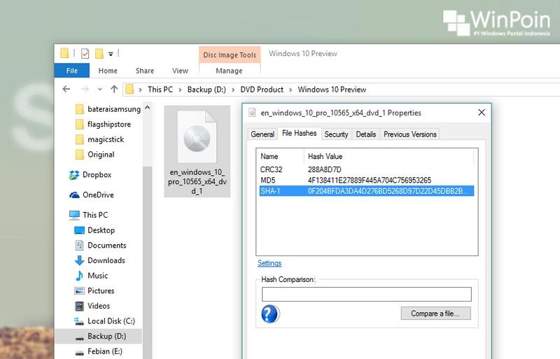 Cara Mudah Memastikan Keaslian File ISO Windows (dan File Digital Lainnya)