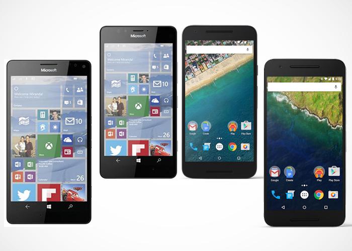 Cari Tahu Spesifikasi Lumia 950 vs Lumia 950 XL vs Nexus 5X vs Nexus 6P