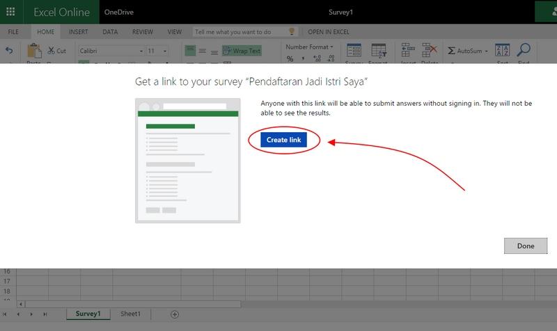 Cara Membuat Online Form (untuk Keperluan Apa Saja) dengan Excel Online