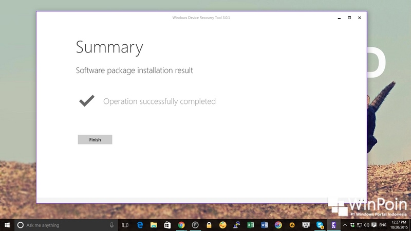 Cara Recovery Lumia Windows Phone dengan Windows Device Recovery Tool (WDRT)