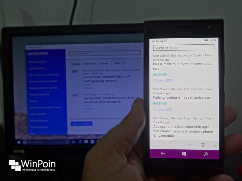 Bye-bye UserVoice, Sekarang Kamu Cuman Bisa Ngirim Feedback via Windows Feedback App