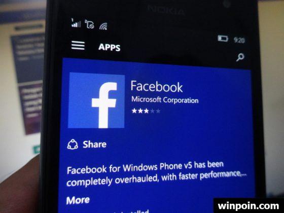 Facebook untuk Windows 10 Mobile Sudah Final dan Tidak Lagi Beta