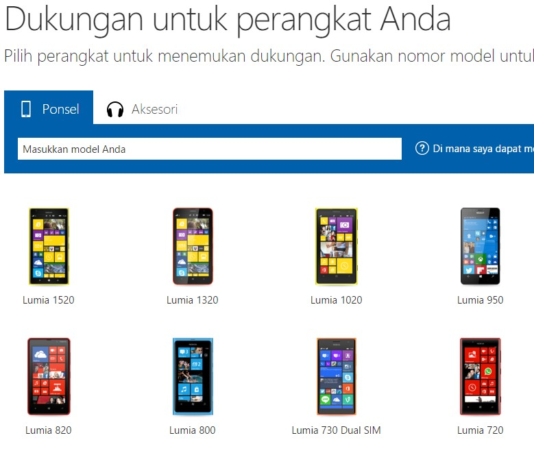Lumia 950 Sudah Muncul di Halaman Support Lumia Indonesia
