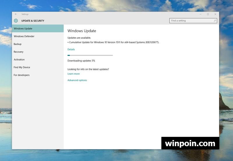 Update KB3120677 Dirilis untuk Mengatasi Permasalahan Privasi di Windows 10 November Update