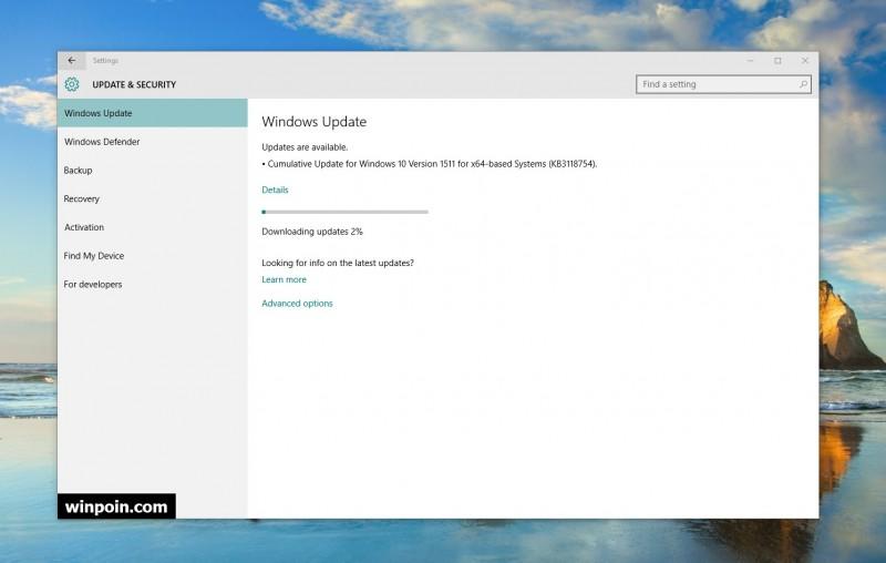 Ada Cumulative Update untuk Windows 10 yang Dirilis