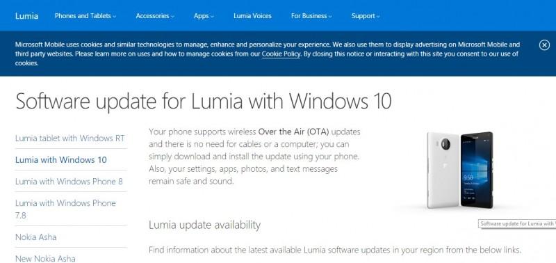 Final Semakin Dekat, Halaman Update Windows 10 Mobile untuk Lumia Sudah Dirilis