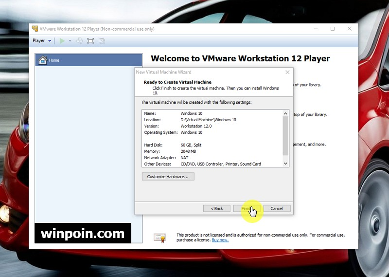 Cara Install Windows 10 di VMware Virtual Machine