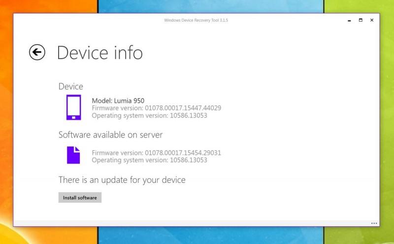 Windows Device Recovery Tool Diupdate untuk Lumia 550, 950, dan 950