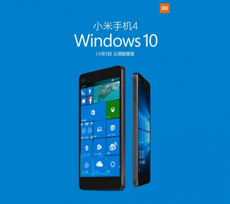 Wow..ROM Windows 10 Mobile untuk Xiaomi Mi4 LTE Dirilis 3 Desember Besok!