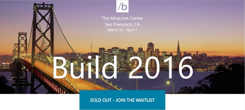 Build 2016 Sold Out