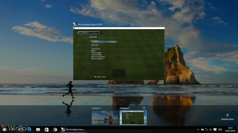 Tips Menggunakan Virtual Desktop Windows 10