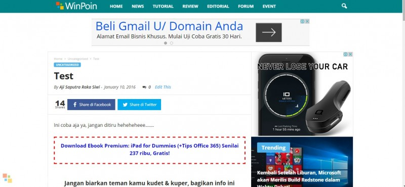 Blogging Offline dengan Windows Live Writer