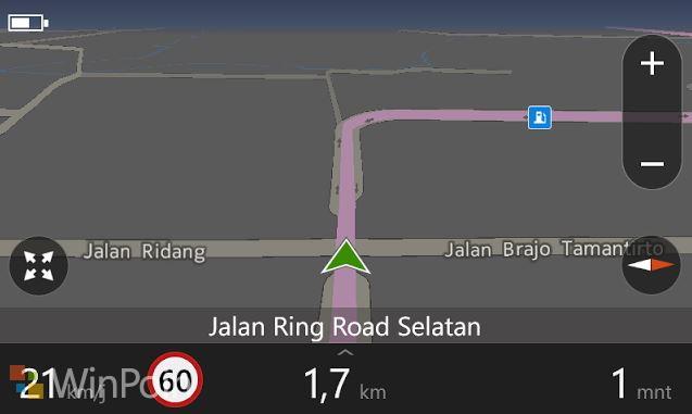 Navigasi Menggunakan Here Drive