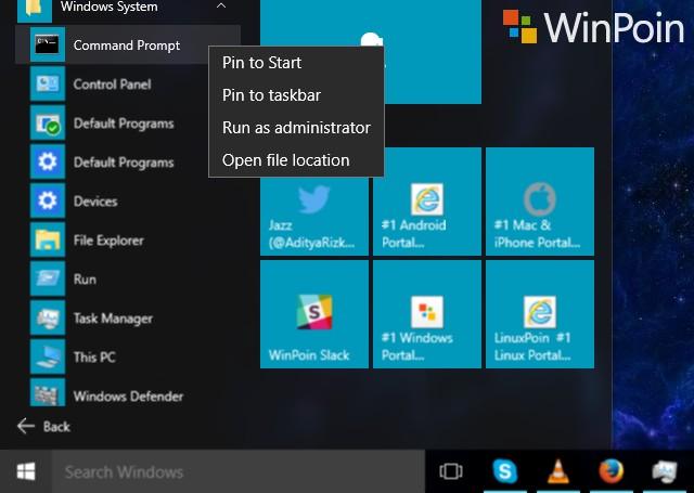 9 Cara Membuka Command Prompt pada Windows 10 | WinPoin