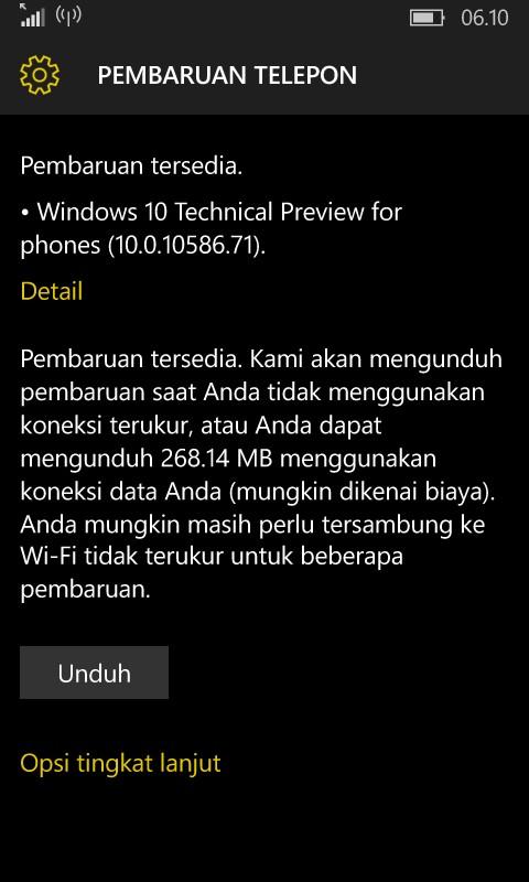 Windows 10 Mobile Build 10586.71 Tersedia Untuk Fast Ring