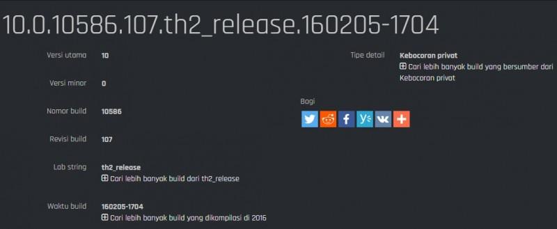 Build 10586.107 Sedang Diuji Oleh Internal Microsoft, Dan Akan Segera Tersedia di Fast Ring