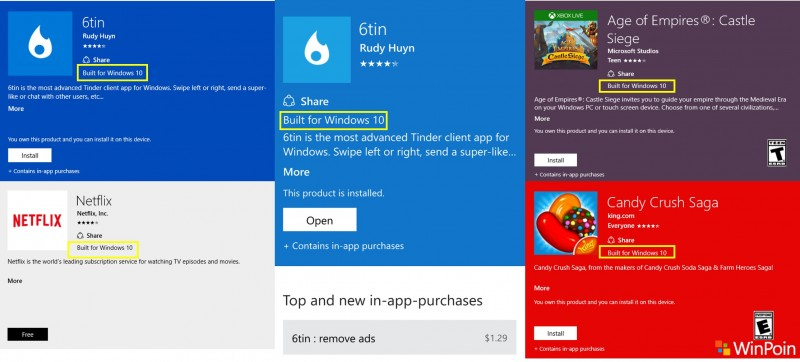 Built For Windows 10-windows store update