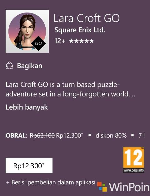 Game Lara Croft GO Mendapat Diskon, Kini Harganya Hanya Rp12.300