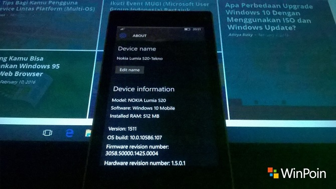 Review Windows 10 Mobile 10586.107-1