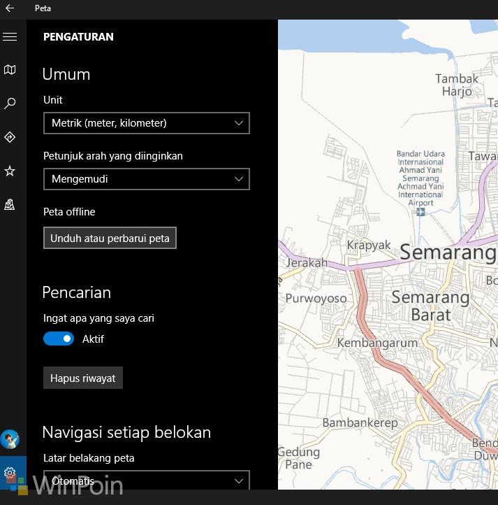 Mengoptimalkan Peta di Perangkat Windows