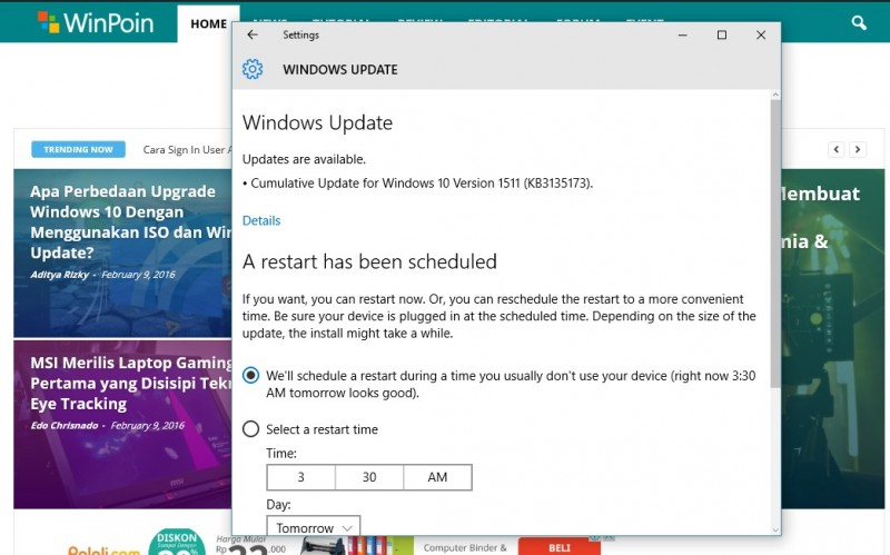 Windows 10 Build 10586.104-windows update