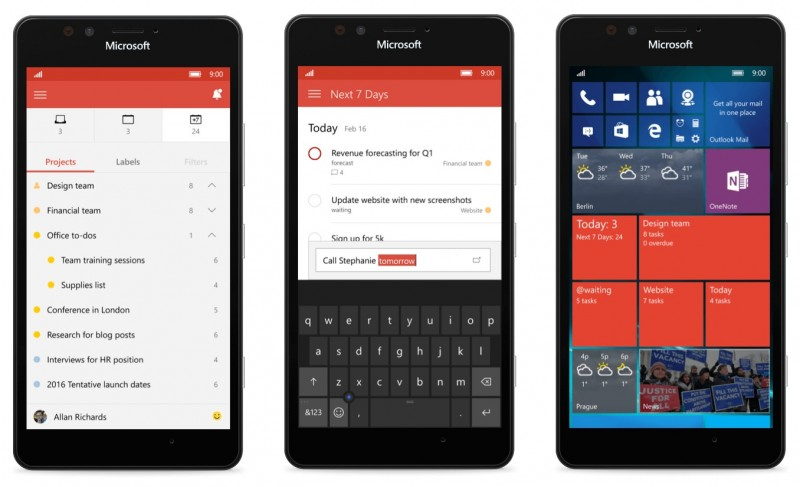 todoist windows 10 mobile