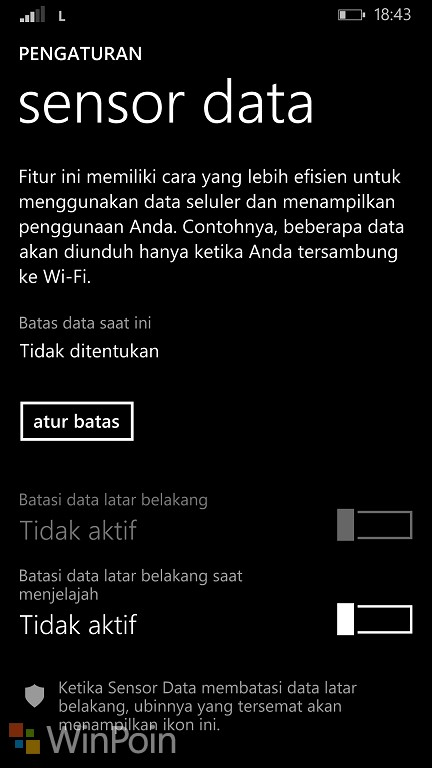 Menghemat Data dengan Sensor Data
