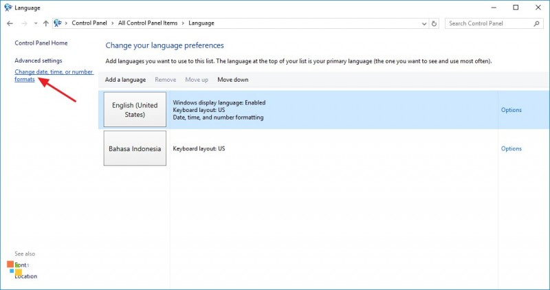 2 Cara Merubah Format Jam di Windows 10