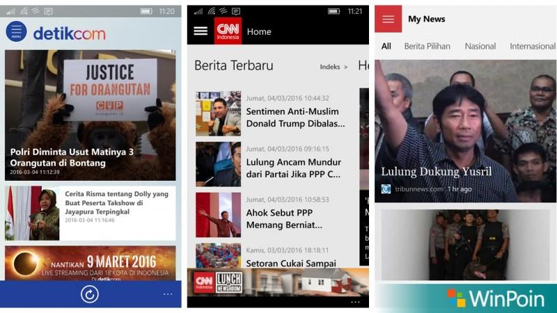 Berita di Windows 10 Mobile