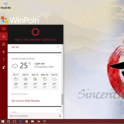 Cortana Weather News