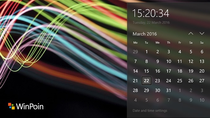 Kalender Windows 10