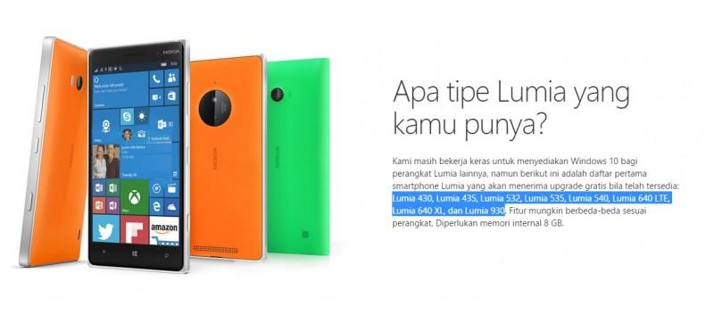Lumia Windows 10 Mobile Gelombang Pertama