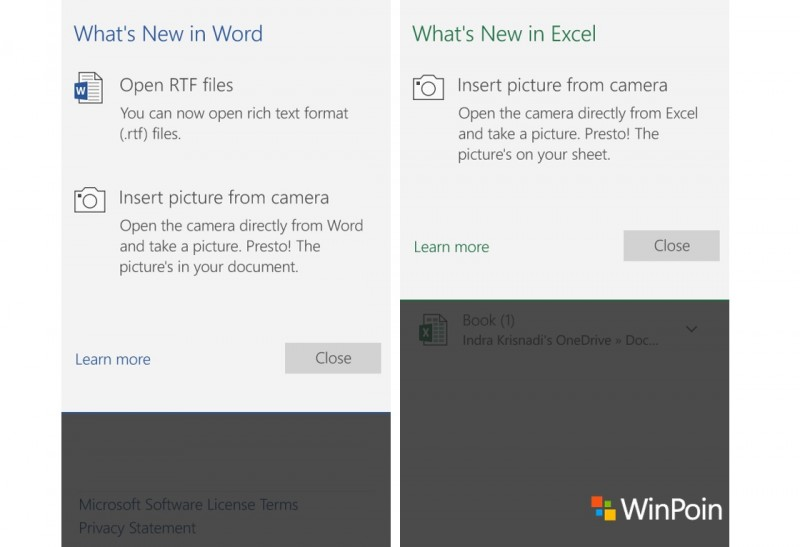 Office Word Excel Mobile Update Maret 2016