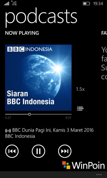 Podcast BBC Indonesia Windows 10 Mobile
