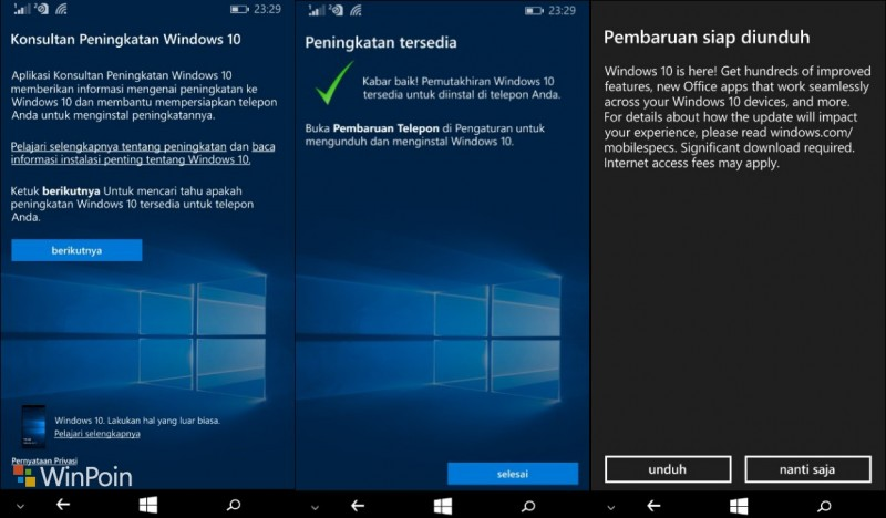 Windows 10 Mobile Final Untuk Lumia Gelombang Pertama Telah Tersedia