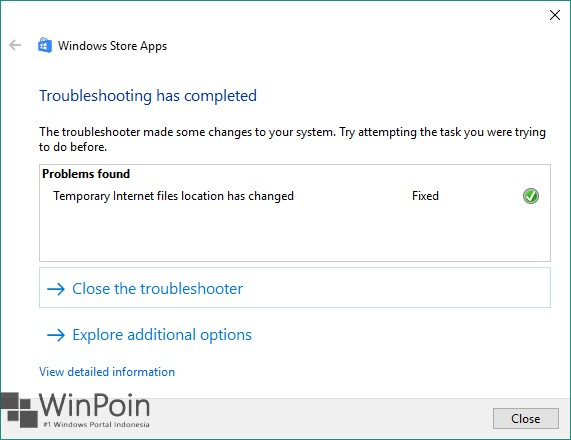 Menjalankan Windows Store Apps Troubleshooter Di Windows 10 WinPoin